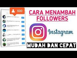 cara tambah followers instagram gratis