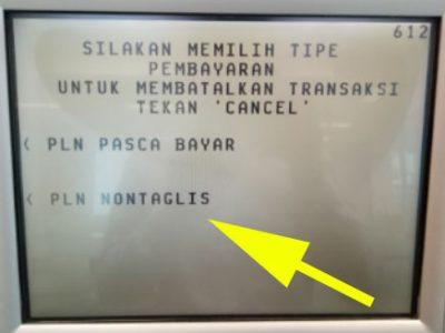 bayar Pln non taglis atm BCA