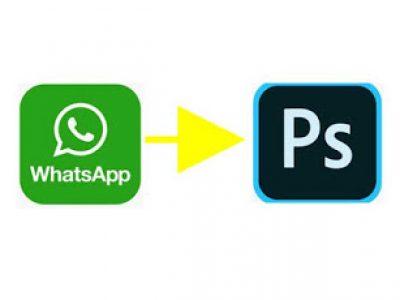 cara buka foto dari whatsapp di photoshop