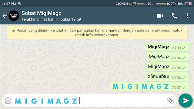 Membuat Tulisan Whatsapp Berwarna