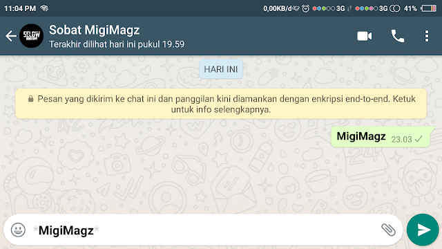Tulisan Whatsapp Tebal / Bold