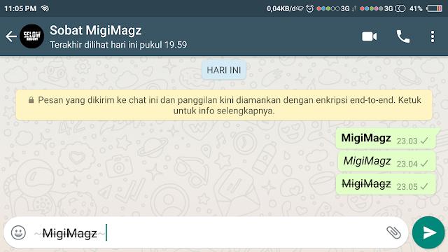 Membuat TulisanTercoret / Striketrhough Whatsapp