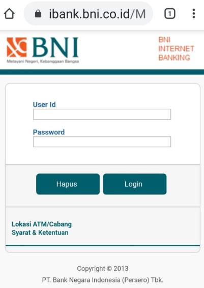 bayar pln non taglis lewat bni internet banking