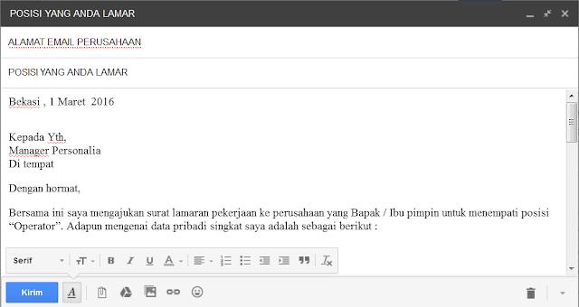 cara mengirim lamaran kerja via email
