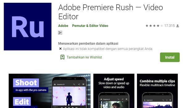 Adobe Premiere Rush aplikasi edit video android