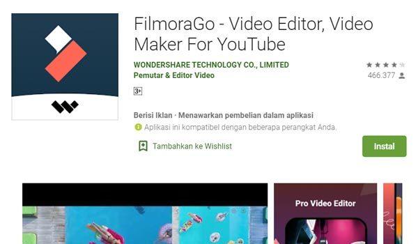 filmorago edit video