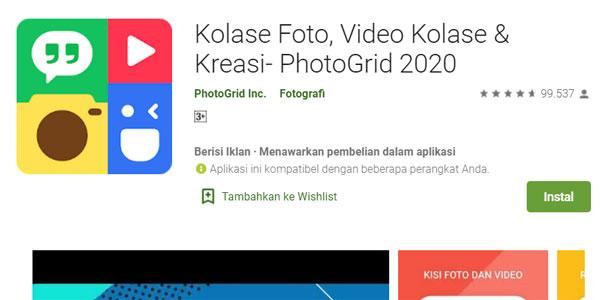 photogrid Aplikasi Edit Foto Android