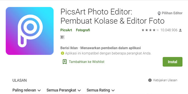 picsart Aplikasi Edit Foto Android